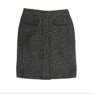 Ann Taylor Cheetah Skirt Size 2 Petite